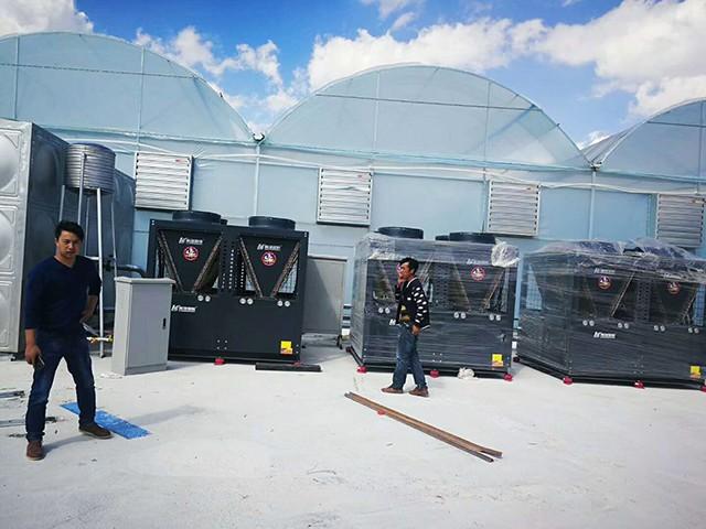 云南红河州泸西县蔬菜大棚空气能热泵采暖工程